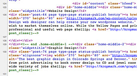 SEO is making your html code get noticed by Google.