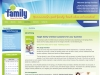 CMS Joomla web page design for Springs Family Values.
